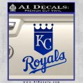 KC Royals Decal Sticker Stacked Blue Vinyl 120x120