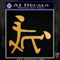 Kanji Sex Decal Sticker Funny Metallic Gold Vinyl Vinyl 120x120