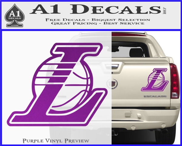 Lakers L Decal Sticker Nba Los Angeles 187 A1 Decals
