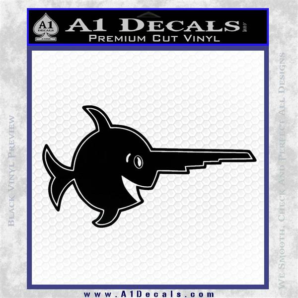Laughing Sawfish German U Boat Ww2 Emblem Decal Sticker