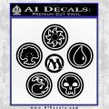 MTG Mana Symbols C5 Decal Sticker Magic The Gathering Black Logo Emblem 120x120