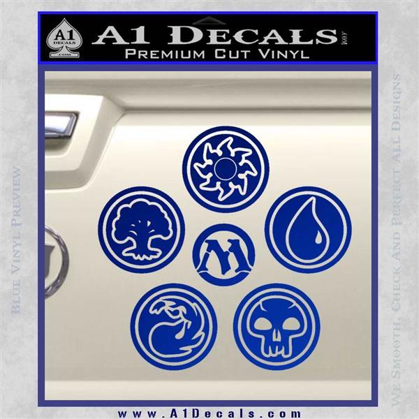 Mtg Mana Symbols C5 Decal Sticker Magic The Gathering A1 Decals