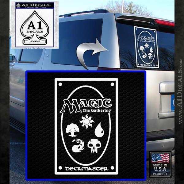 Magic Card Back Decal Sticker Mtg Mana Symbols A1 Decals