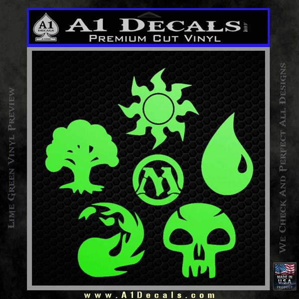 Mana Symbols Mtg D5 Decal Sticker Set Magic The Gathering