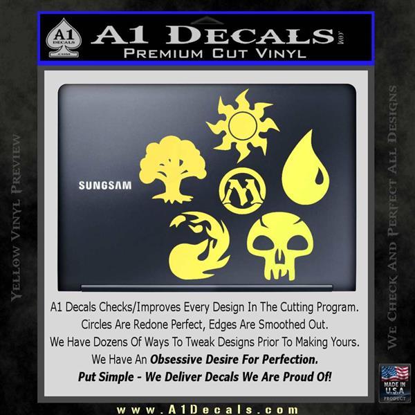 Mana Symbols Mtg D5 Decal Sticker Set Magic The Gathering A1 Decals
