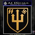 Nazi 2nd Panzer Division Decal Sticker Metallic Gold Vinyl Vinyl 120x120