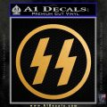 Nazi SS Decal Sticker CR Metallic Gold Vinyl Vinyl 120x120