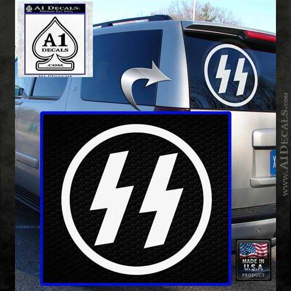 Nazi Ss Decal Sticker Cr1 187 A1 Decals