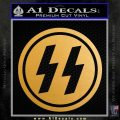 Nazi SS Decal Sticker DH Metallic Gold Vinyl Vinyl 120x120