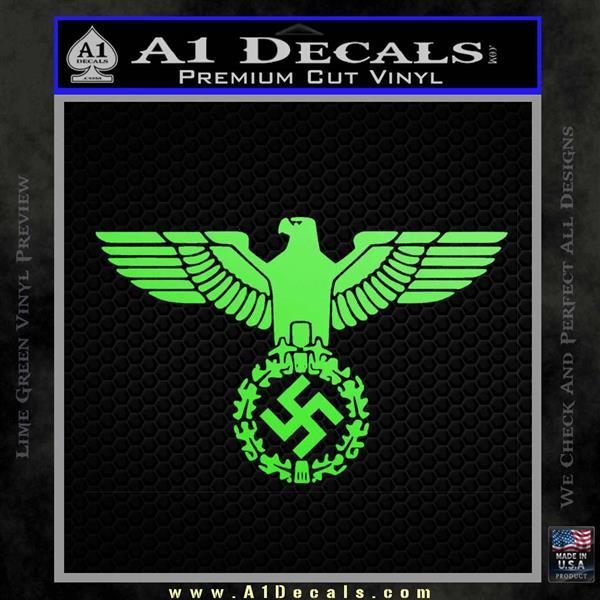 Nazi Swastika Eagle Wreath Decal Sticker 187 A1 Decals