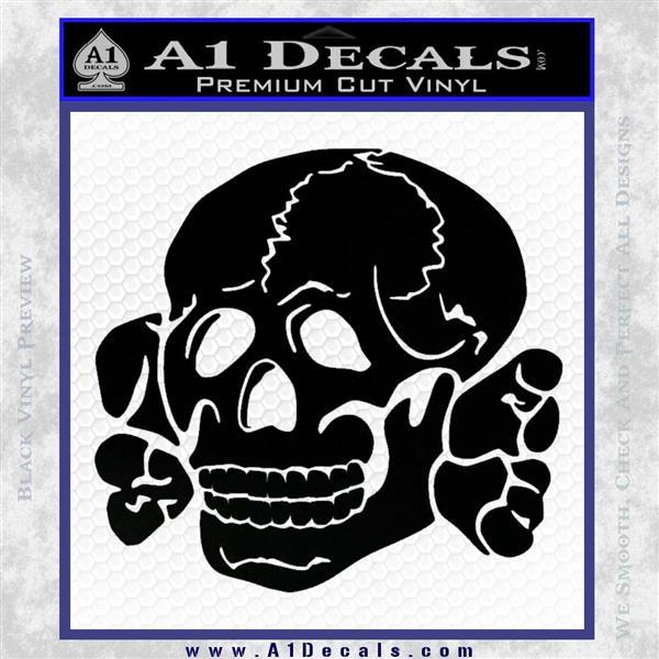 Totenkopf deaths head decal sticker wwii nazi ss black logo emblem 120x120