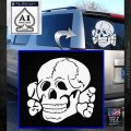 Totenkopf Deaths Head Decal Sticker WWII Nazi SS White Emblem 120x120