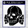 Totenkopf Deaths Head Decal Sticker WWII Panzer Nazi SS Black Logo Emblem 120x120