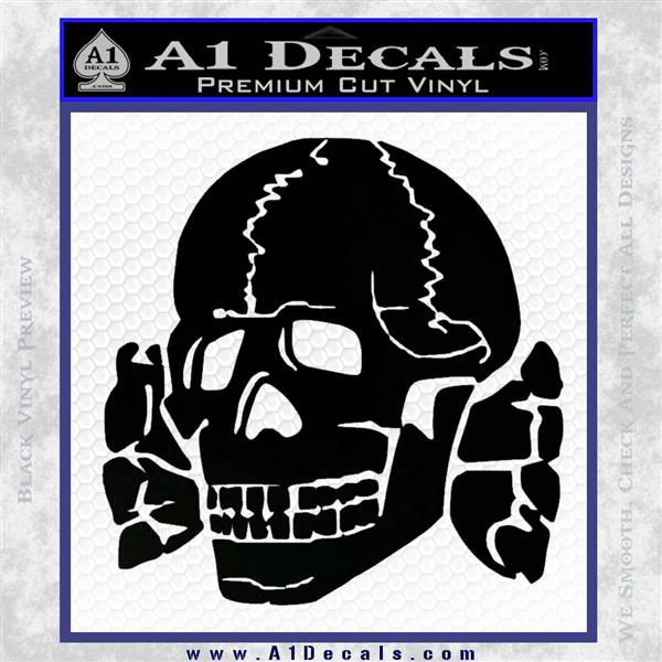 Totenkopf Death S Head Decal Sticker Wwii Panzer Nazi Ss