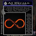blue lives matter infinity symbol Orange Vinyl Emblem 120x120