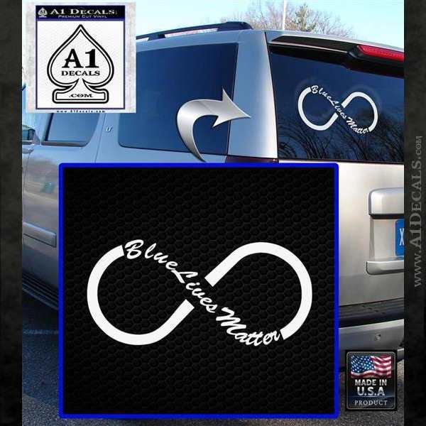 Blue Lives Matter Infinity Symbol Decal Sticker 187 A1 Decals
