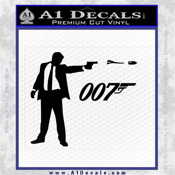 007 James Bond Bullet Decal Sticker Black Logo Emblem