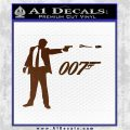 007 James Bond Bullet Decal Sticker Brown Vinyl 120x120