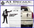 007 James Bond Bullet Decal Sticker Carbon Fiber Black 120x97