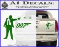 007 James Bond Bullet Decal Sticker Green Vinyl 120x97
