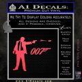 007 James Bond Bullet Decal Sticker Pink Vinyl Emblem 120x120