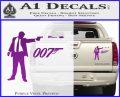 007 James Bond Bullet Decal Sticker Purple Vinyl 120x97