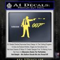 007 James Bond Bullet Decal Sticker Yelllow Vinyl 120x120