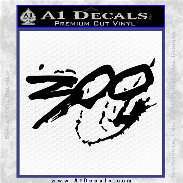 300 Movie Title Decal Sticker Sparta » A1 Decals