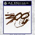 300 Movie Title Decal Sticker Sparta Brown Vinyl 120x120