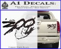300 Movie Title Decal Sticker Sparta Carbon Fiber Black 120x97