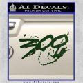 300 Movie Title Decal Sticker Sparta Dark Green Vinyl 120x120