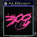 300 Movie Title Decal Sticker Sparta Hot Pink Vinyl 120x120