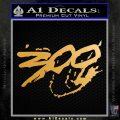300 Movie Title Decal Sticker Sparta Metallic Gold Vinyl 120x120
