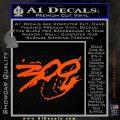 300 Movie Title Decal Sticker Sparta Orange Vinyl Emblem 120x120