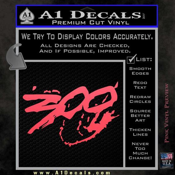 300 Movie Vinyl Car Window Laptop Decal Sticker