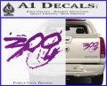 300 Movie Title Decal Sticker Sparta Purple Vinyl 120x97