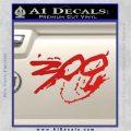 300 Movie Title Decal Sticker Sparta Red Vinyl 120x120