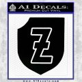 4th SS Panzer Division Decal Sticker Black Logo Emblem 120x120