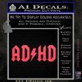 ADHD ACDC Parody Decal Sticker Pink Vinyl Emblem 120x120