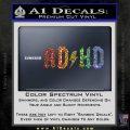 ADHD ACDC Parody Decal Sticker Sparkle Glitter Vinyl 120x120