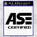 ASE Certified Mechanic ST Decal Sticker Black Logo Emblem 120x120