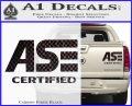 ASE Certified Mechanic ST Decal Sticker Carbon Fiber Black 120x97