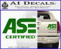 ASE Certified Mechanic ST Decal Sticker Green Vinyl 120x97