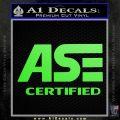 ASE Certified Mechanic ST Decal Sticker Lime Green Vinyl 120x120