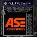 ASE Certified Mechanic ST Decal Sticker Orange Vinyl Emblem 120x120