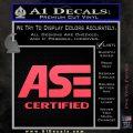 ASE Certified Mechanic ST Decal Sticker Pink Vinyl Emblem 120x120