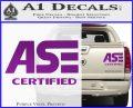 ASE Certified Mechanic ST Decal Sticker Purple Vinyl 120x97