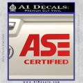 ASE Certified Mechanic ST Decal Sticker Red Vinyl 120x120