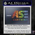 ASE Certified Mechanic ST Decal Sticker Sparkle Glitter Vinyl 120x120