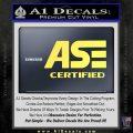 ASE Certified Mechanic ST Decal Sticker Yelllow Vinyl 120x120